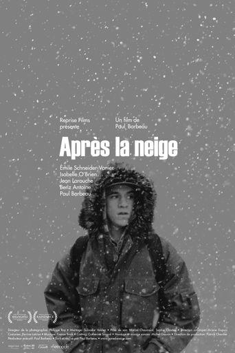 Après la neige Poster