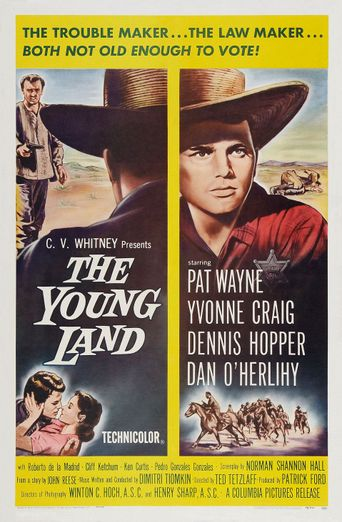 The Young Land Poster