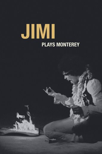 Jimi Plays Monterey Poster