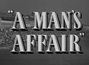 A Man's Affair Poster