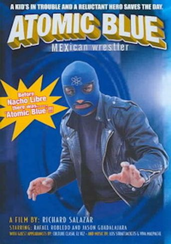 Atomic Blue: Mexican Wrestler Poster