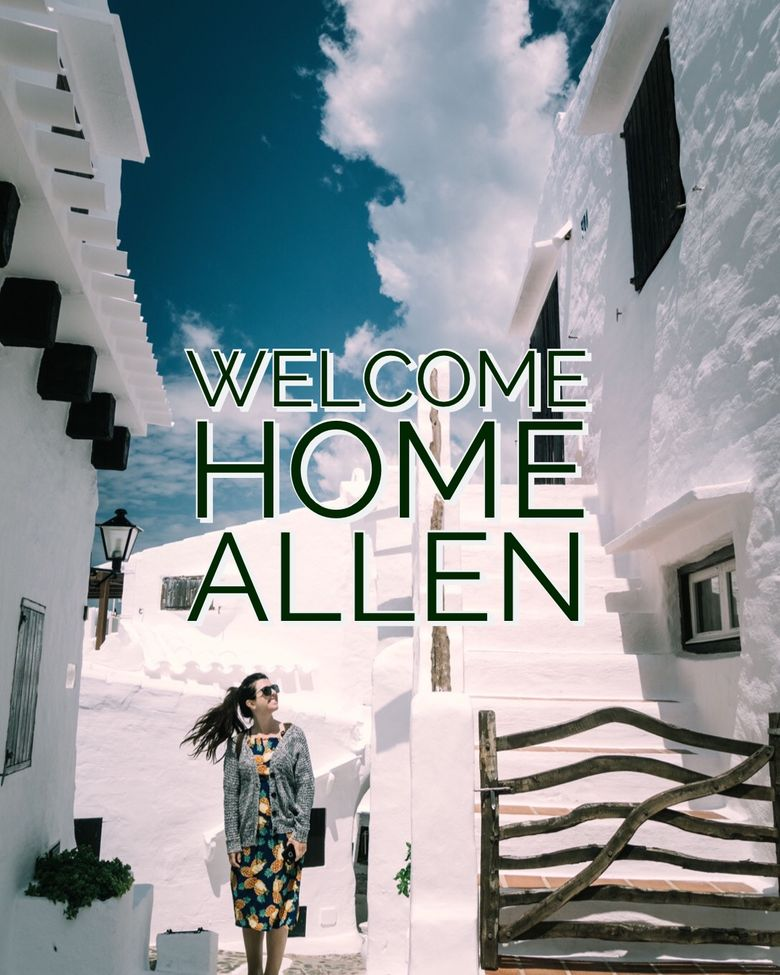 Welcome Home Allen Poster