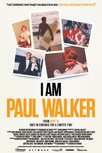 I Am Paul Walker Poster