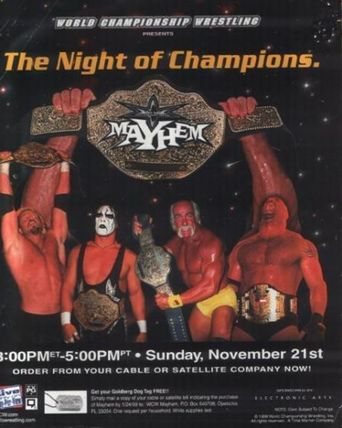 WCW Mayhem 1999 Poster