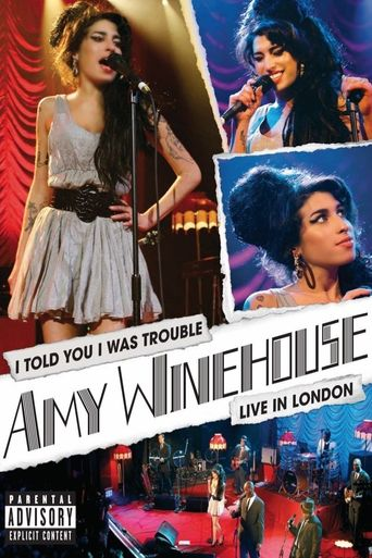 Amy Winehouse - I Told You I Was Trouble (Live in London) Poster