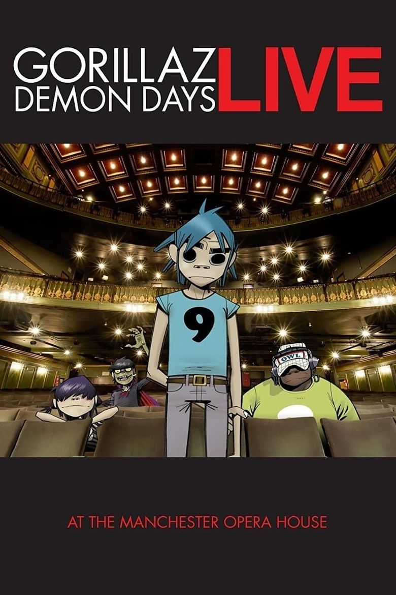 Gorillaz: Live in Manchester Poster
