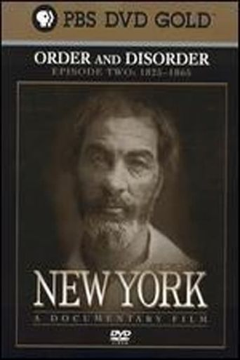 New York: Order and Disorder (1825–1865) Poster