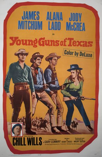 Young Guns of Texas Poster