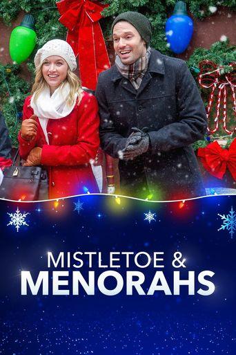 Mistletoe & Menorahs Poster
