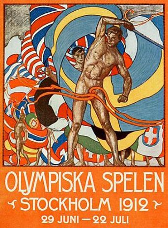 The Games of the V Olympiad Stockholm, 1912 Poster