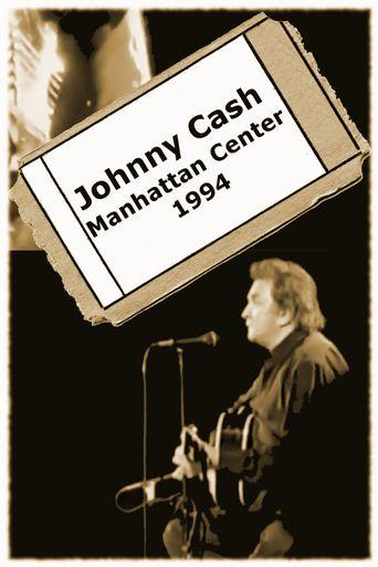 Johnny Cash - Manhattan Center Poster