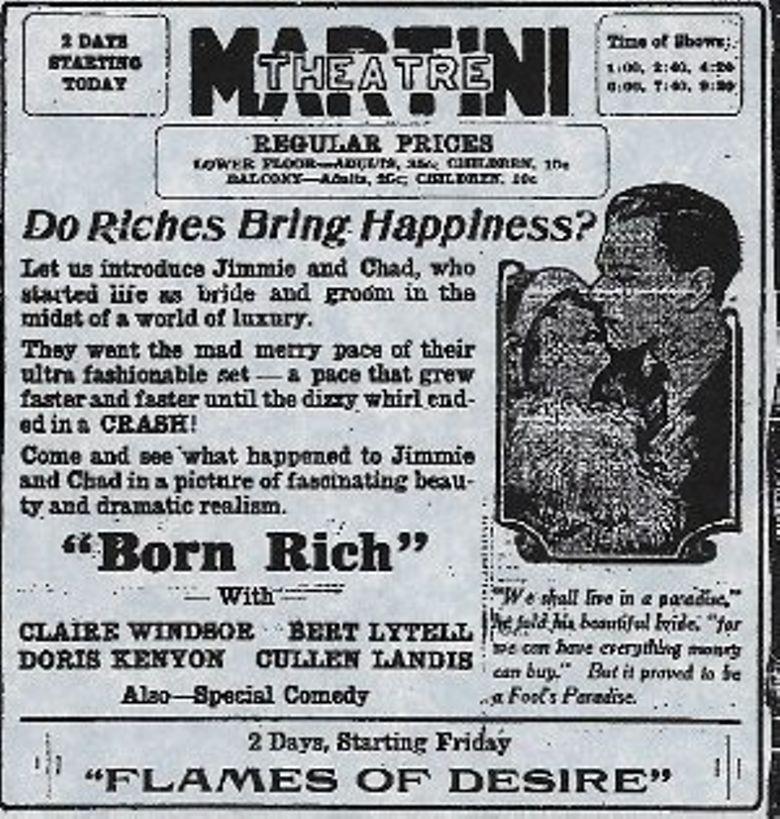 Born Rich Poster