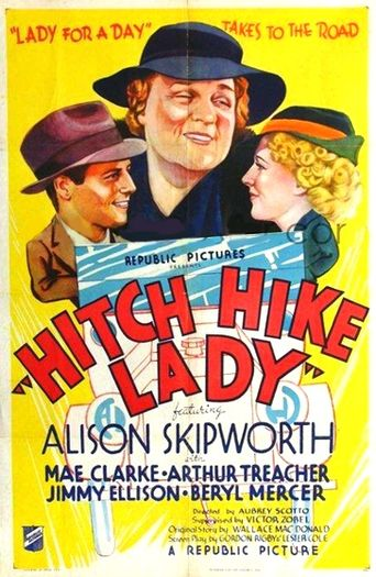 Hitch Hike Lady Poster