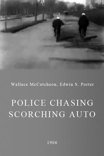 Police Chasing Scorching Auto Poster