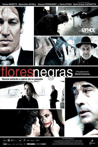 Black Flowers Poster