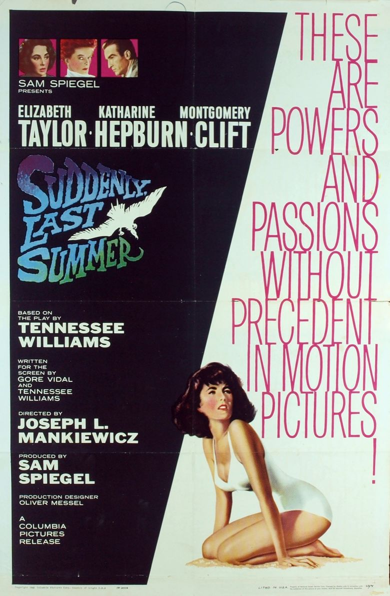 Suddenly, Last Summer Poster