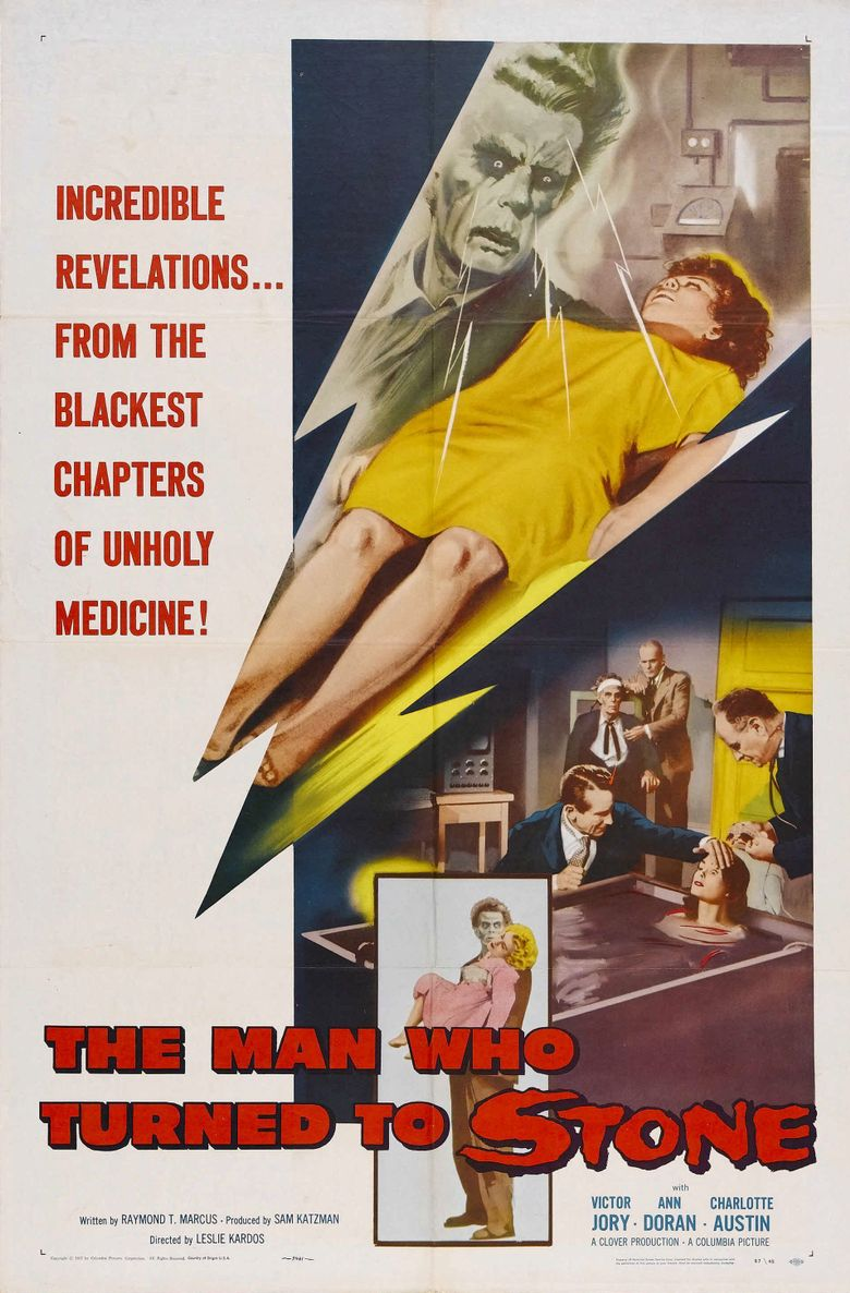 The Man Who Turned to Stone Poster