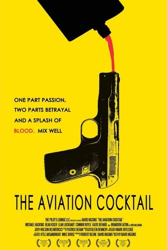 The Aviation Cocktail Poster