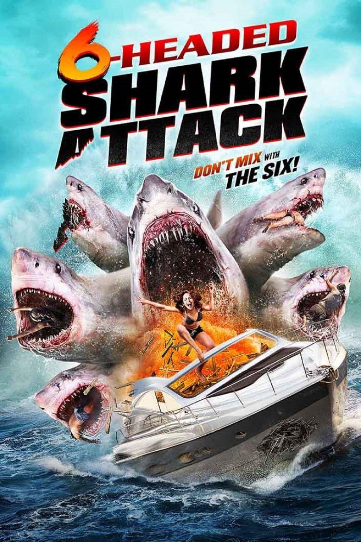 6-Headed Shark Attack Poster