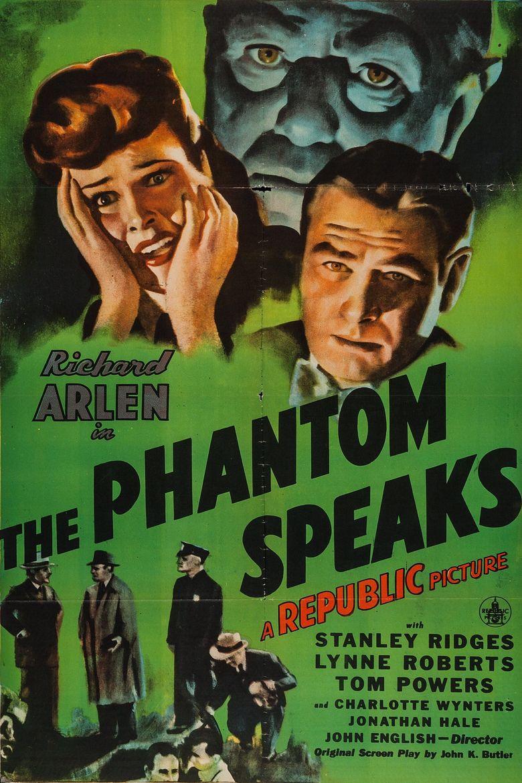 The Phantom Speaks Poster