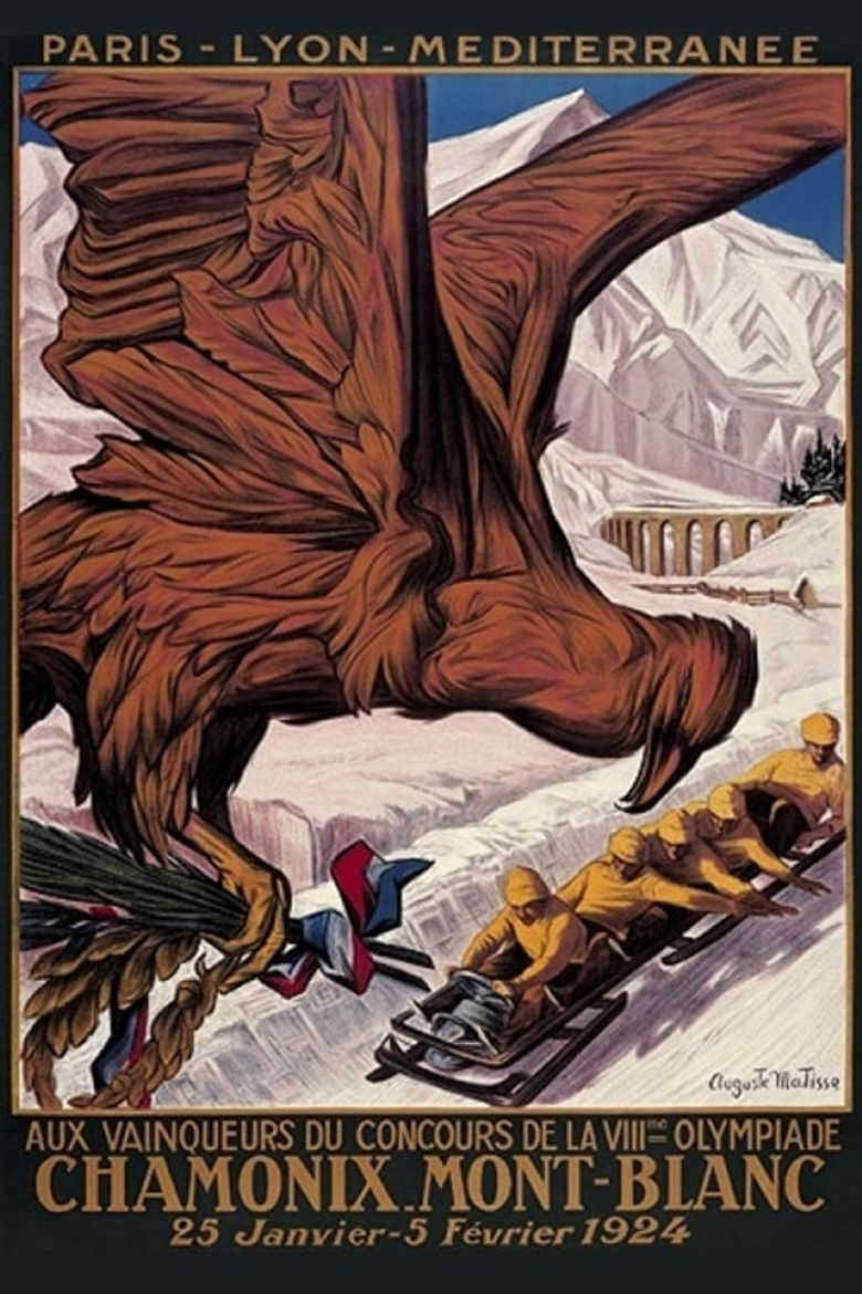 The Olympic Games Held at Chamonix in 1924 Poster