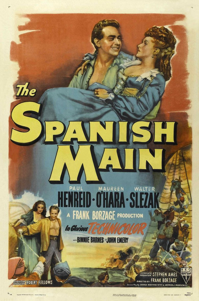 The Spanish Main Poster