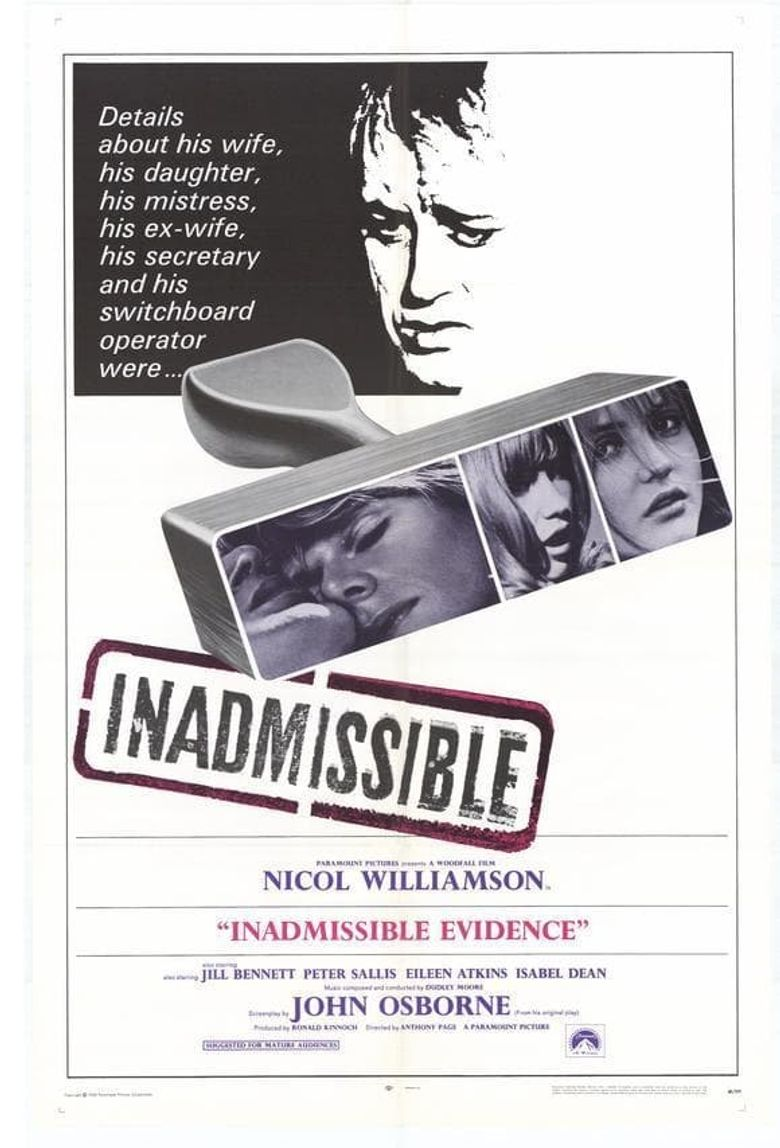 Inadmissible Evidence Poster