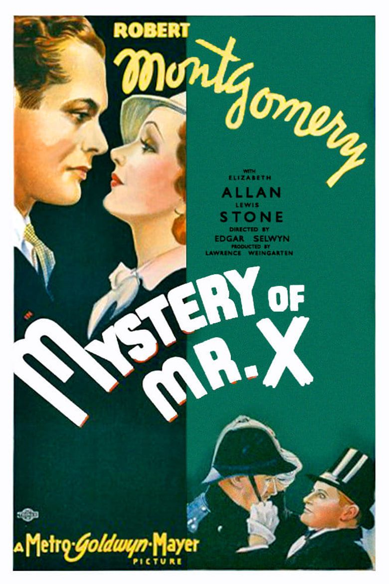 The Mystery of Mr. X Poster
