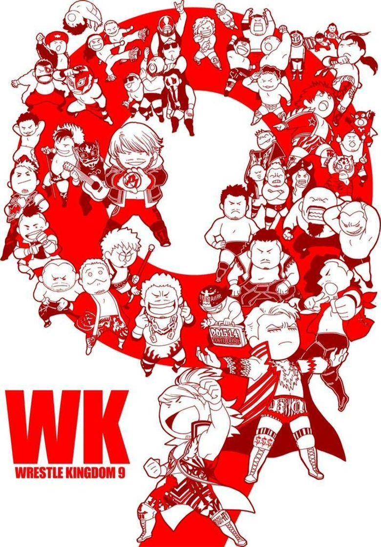 NJPW Wrestle Kingdom 9 Poster