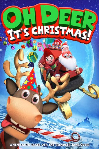 Oh Deer, It's Christmas Poster