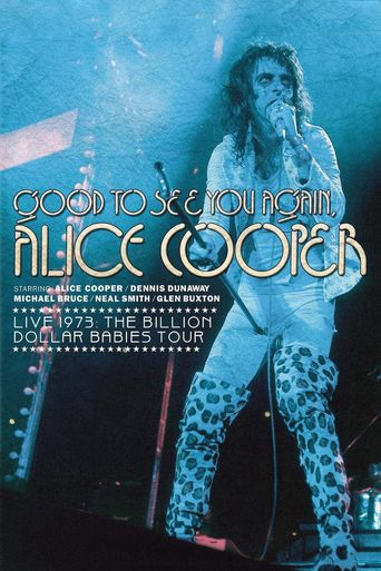 Alice Cooper: Good to See You Again, Alice Cooper Poster