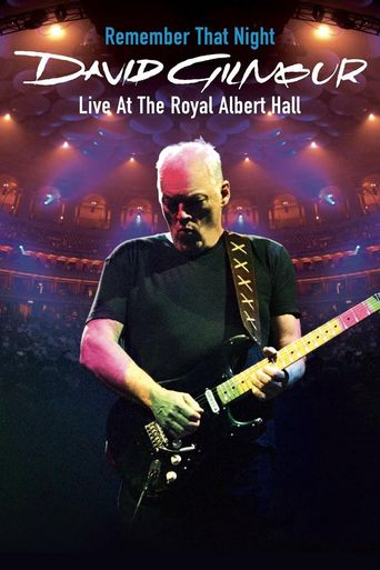 David Gilmour: Remember That Night Poster
