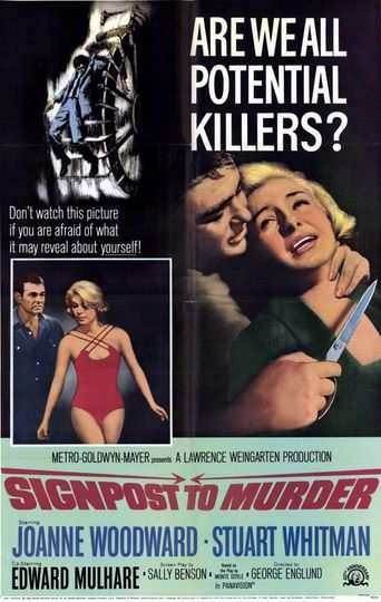 Signpost To Murder Poster