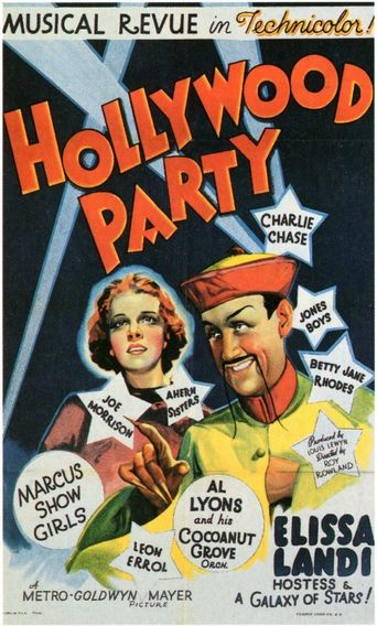 Hollywood Party Poster