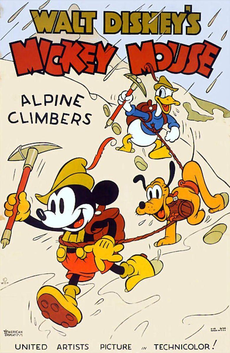 Alpine Climbers Poster