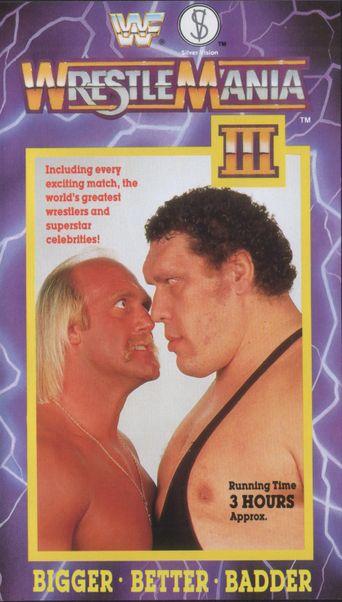 WWE WrestleMania III Poster