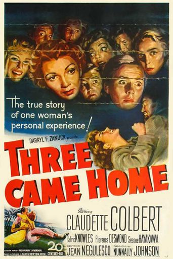 Three Came Home Poster
