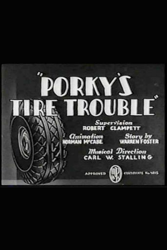 Porky's Tire Trouble Poster