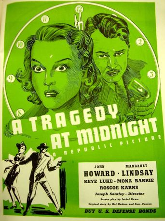 A Tragedy At Midnight Poster