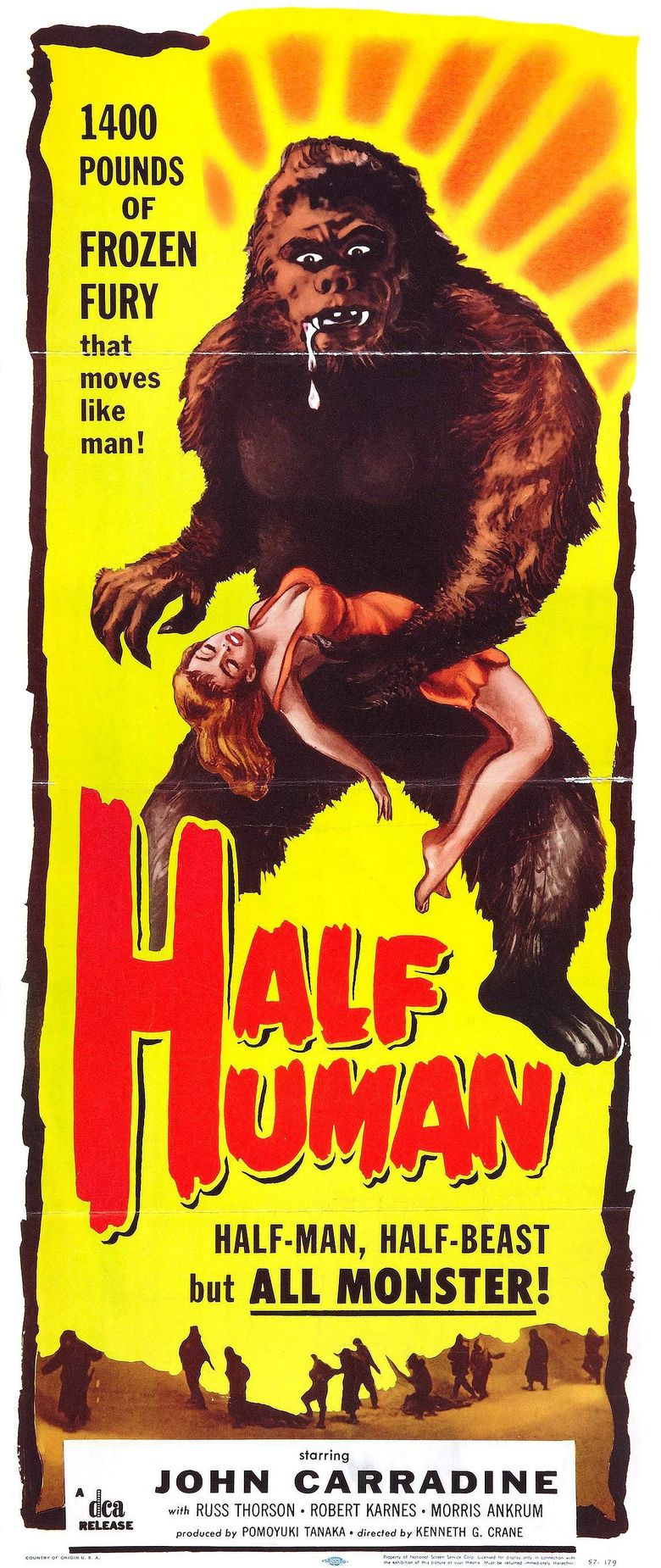 Half Human: The Story of the Abominable Snowman Poster
