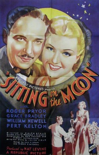 Sitting on the Moon Poster