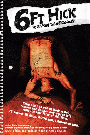 6ft Hick - Notes From The Underground Poster