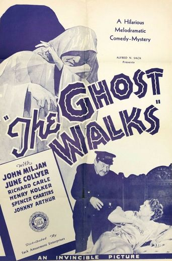 The Ghost Walks Poster