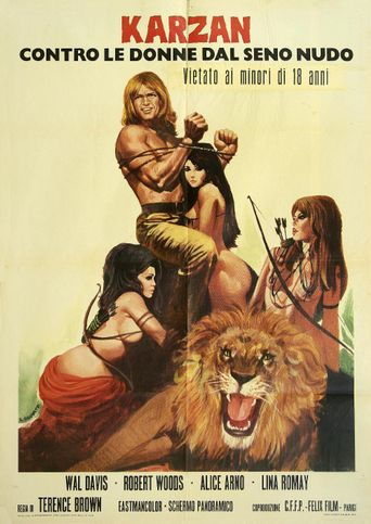 The Lustful Amazons Poster