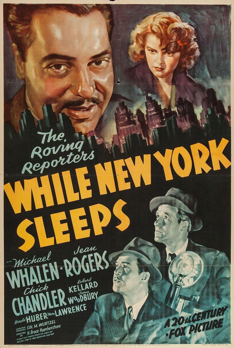 While New York Sleeps Poster