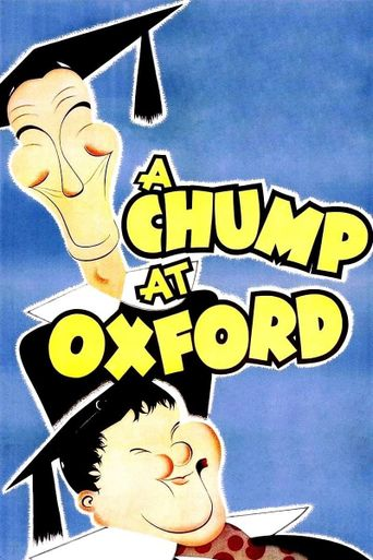 A Chump at Oxford Poster