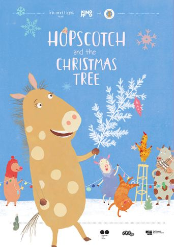 Hopscotch and the Christmas Tree Poster