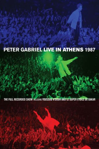 Peter Gabriel: Live In Athens 1987 Poster