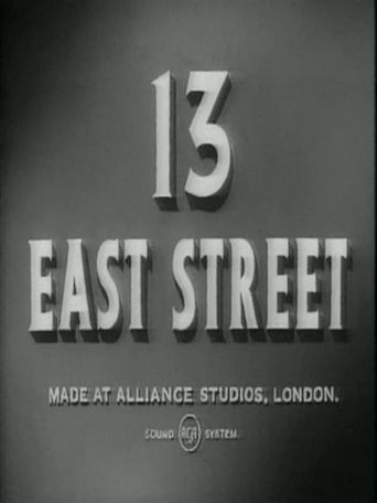 13 East Street Poster