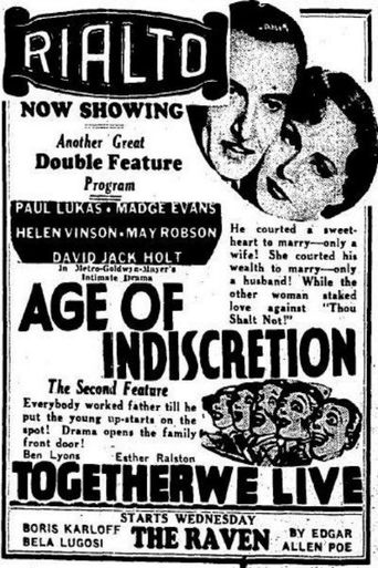 Age of Indiscretion Poster